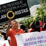 VENEZUELA-POLITICS-MEDIA-GLOBOVISION-DEMO