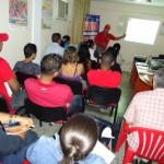 El taller ofrecido a la juventud socialista contó con la participación de aproximadamente 70 personas