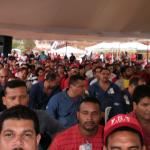 trabajadoresempresabasicasguayanaduranteanunciosplanguayanasocialista