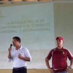 Cabellos del INJ y Omar Sánchez Comisión de Milicia de la JPSUV