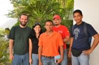 Juan Bautista, Marilyn Hernández, Junior Gómez, Rolando Campos y Fidel Flores, estudiantes y representantes de la Juventud del PSUV