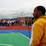 EL ING_ JAMYL VERENZUELA DIRIGIENDOSE A LOS PRESENTES  EN EL ACTO DE  REINAUGURACION