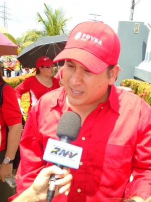 Yesel Calzadilla, encargado de los asuntos internacionales de la Juventud del PSUV.