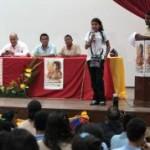 Estudiantes de educación media en pre-congreso