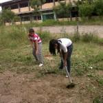 Jóvenes y estudiantes en trabajo voluntario