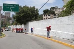 La JPSUV pintó murales en signo de celebración