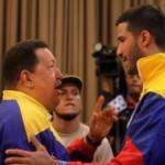 Hugo Chávez y Greivis Vazques