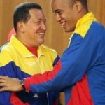 Hugo Chavez y Héctor Rodríguez