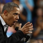 U.S. President Obama speaks at a campaign rally at Springfield High School in Ohio