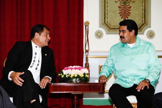 Presidentes Correa y Maduro