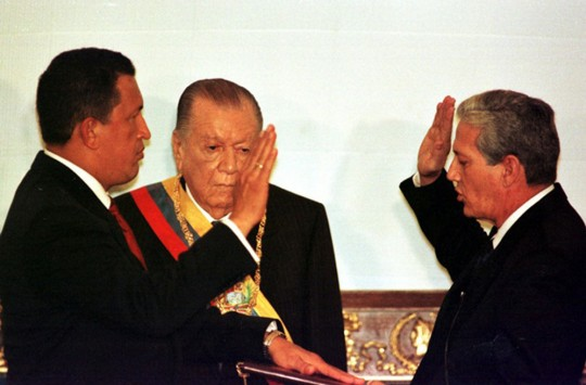 CHAVEZ TAKES OFFICE