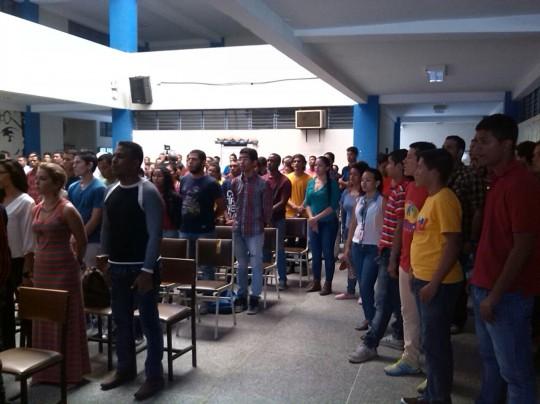 Foto 2.- Jóvenes revolucionarios de Aragua iniciaran una fase de despliegue en todo el territorio regional.