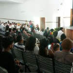 Ginkellys Gutiérrez, Comisionada de Organización de la JPsuv Lara, durante su intervención en el encuentro