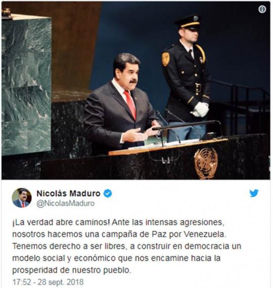 20180929 Pdte. Maduro en NY 2