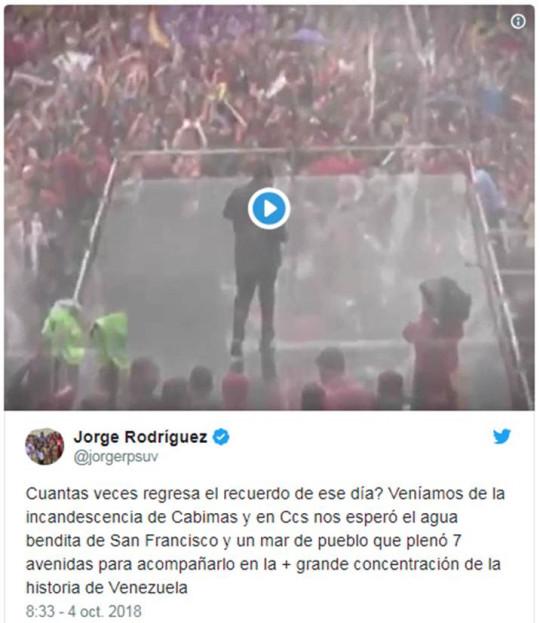 20181004 Min. Jorge Rodriguez a Chavez